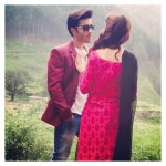 Clicks of Sajal Ali and Feroze Khan during shooting (1)