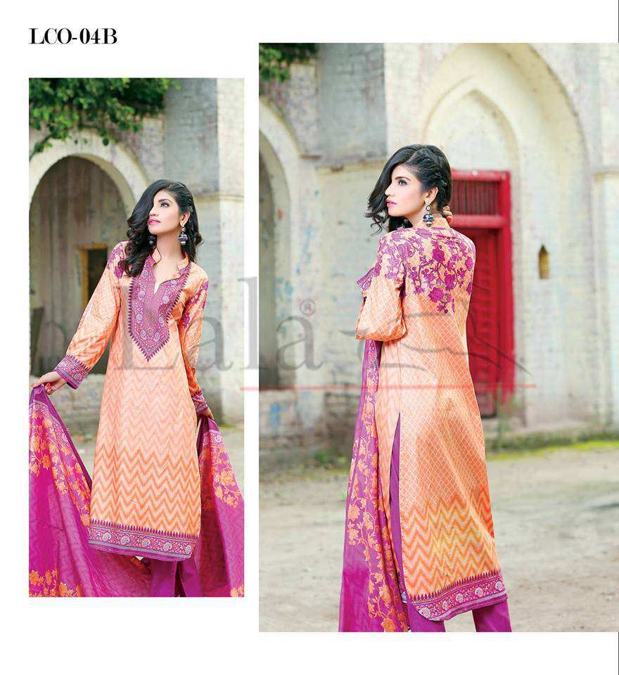 Lala Classic midsummer Cotton Printed Lawn Design or Girls (13)