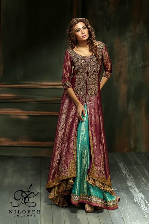 Meeras Bridal Wear Dresses 2015 By Nilofer Couture (1)