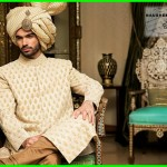Nauman Arfeen Stylish Sherwani Groom 2015 (1)