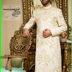 Nauman Arfeen Stylish Sherwani Groom 2015 (3)