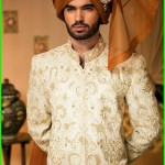 Nauman Arfeen Stylish Sherwani Groom 2015 (4)