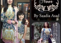 Noor by Saadia Asad luxury Silk Eid Dress 2015 (1)