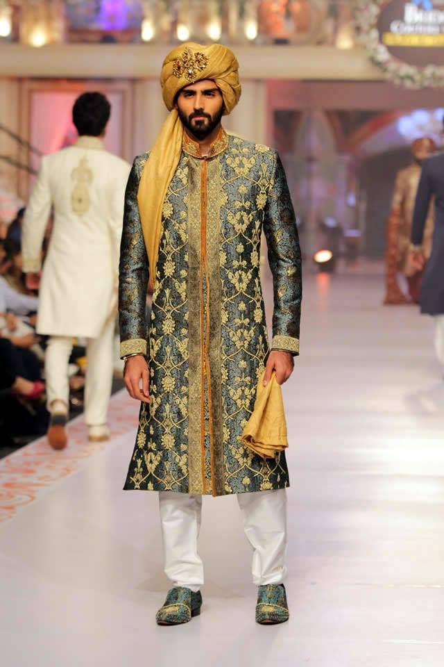 Pakistani Bridal & Groom Dresses 2015 by Arsalan Iqbal (7)