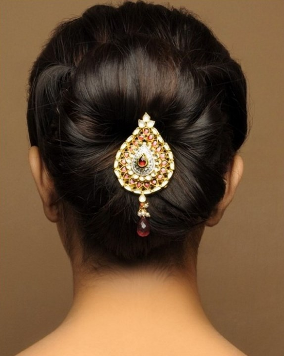 Hairstyle for indian girls for wedding