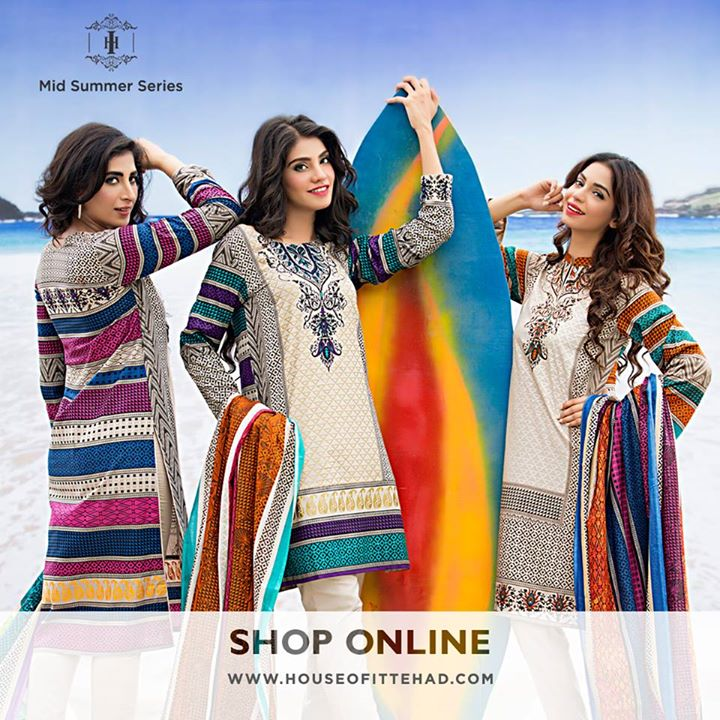 New Pakistani fashion of House of Ittehad's Eid Collection