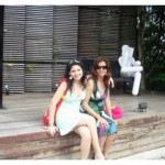 Actress Ayesha Omer and Maria Wasti in sexy dress on beach
