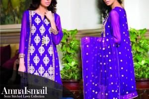 Amna Ismail Semi stitched Chiffon Collection 2015 (3)