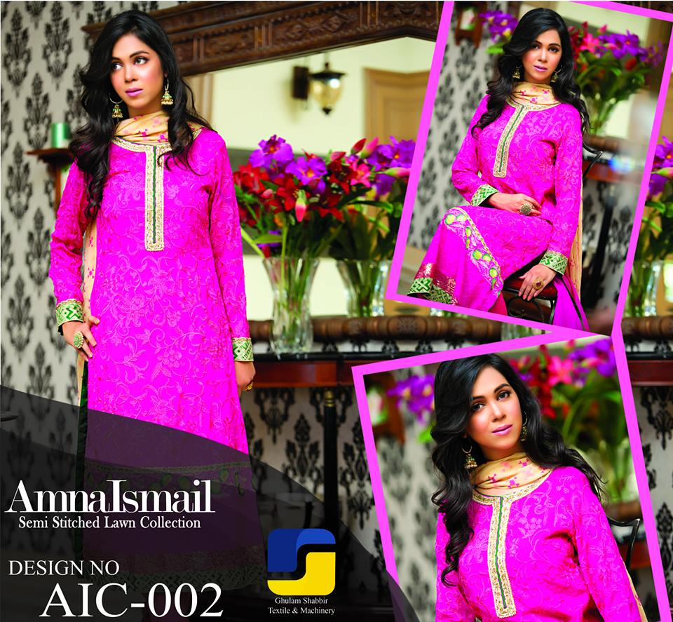 Amna Ismail Semi stitched Made dress Collection 2015