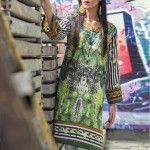 Digital Printed stitched tunic with button embellishmen by Marib B For women
