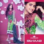 Eid Dress of Rehaab by Jaffrani Textiles 2015