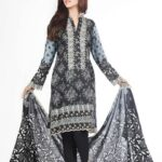 LSM Fabrics (Lakhani Silk Mills) Komal Mid Summer Blacks Dress for women