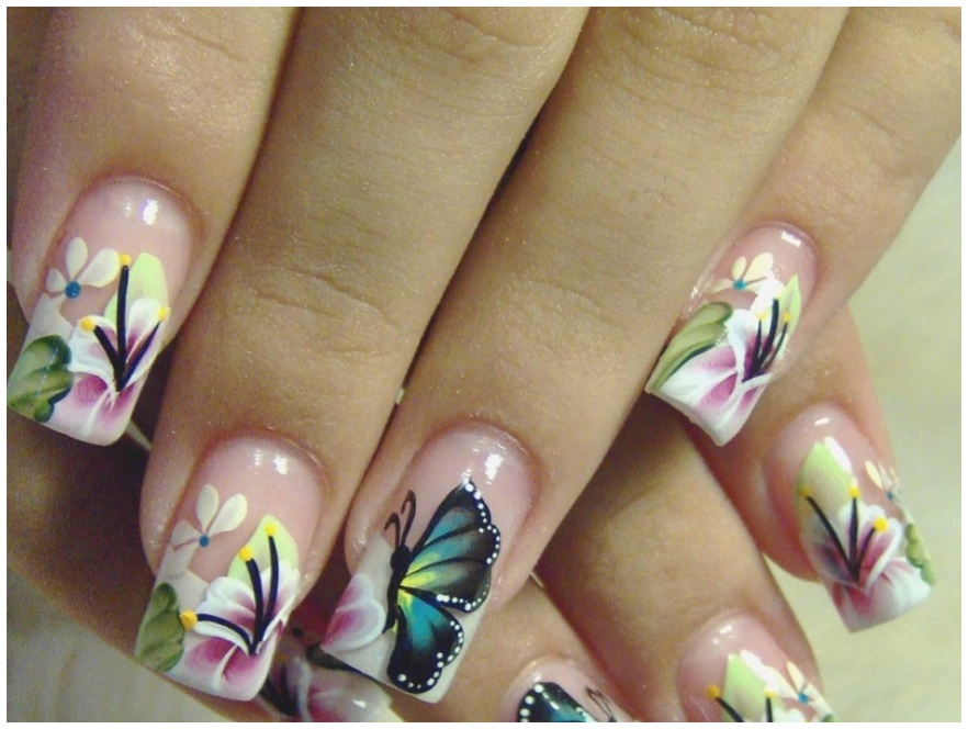Latest Nail Art Butterfly design