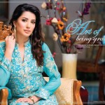 latest Lawn ferozi dress Royal Fantasy by Falak Fabrics