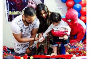 Hot Model Model Mathira son birthday
