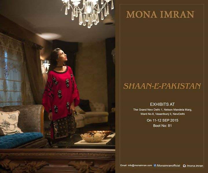Mona Imran new Shaan e Pakistan party Wear 2015-16for Ladies