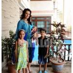 Nadia Hussain With Kids