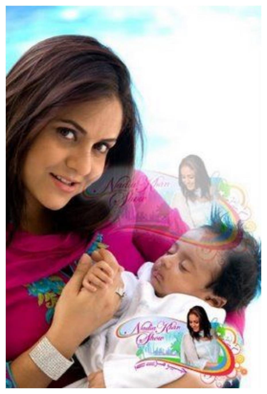 Nadia Khan with New born Baby
