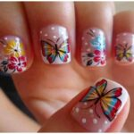 New age girls Nail Art Butterfly pics