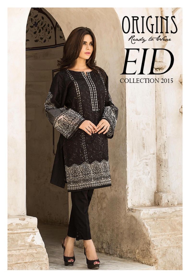 Origins Eid festival Girls Kurta design 2015-16 (2)