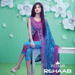 Rehaab Eid Collection 2015 Embroidery Lawn Dresses for women (2)