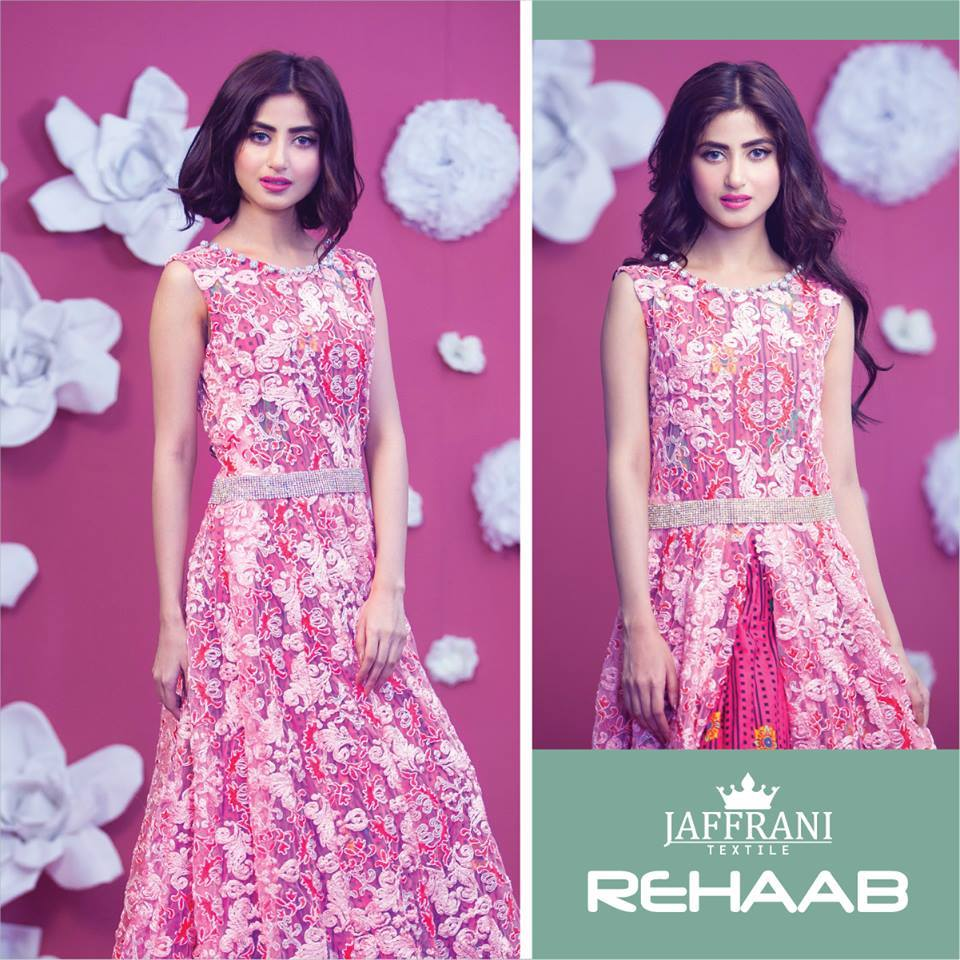 Rehaab Embroidered Lawn Eid Collection 2015