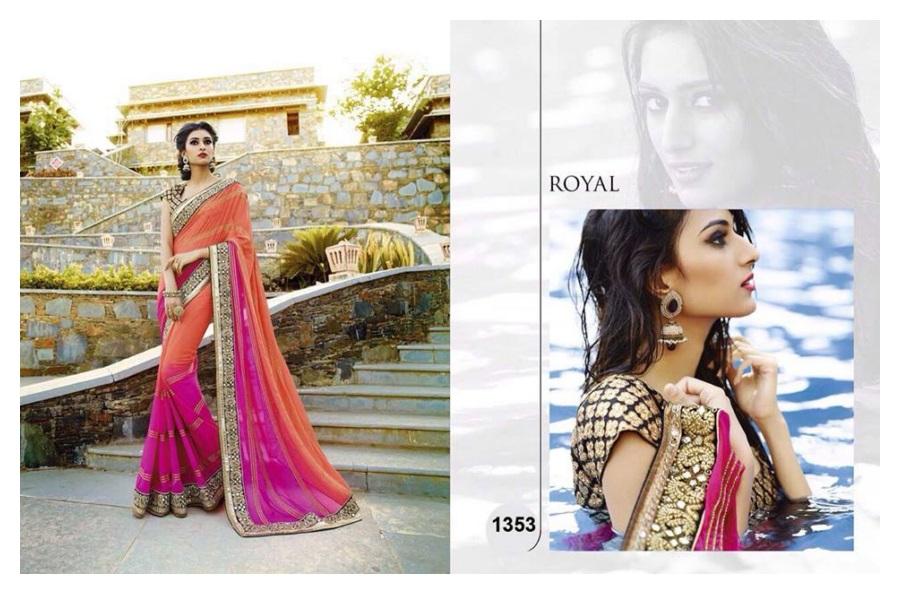 Royal Latest Saree Designs 2015-16 for Weddings