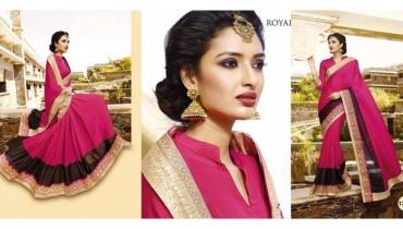 Royal Sarees Beautiful Latest Saree Designs 2015-16 for Women (9)