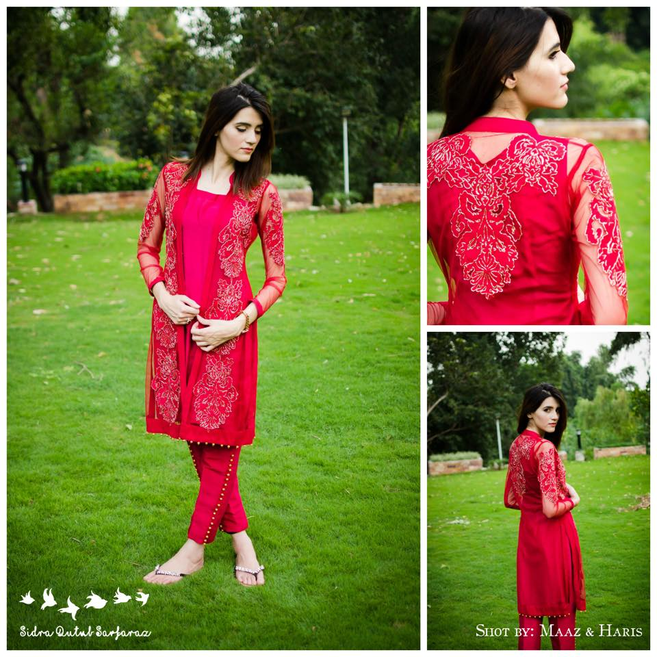 SQS Designer Wear Eid embridery dress