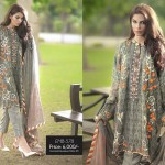 So Kamal Embroidered Chiffon Fall winter 2015 Collection for women