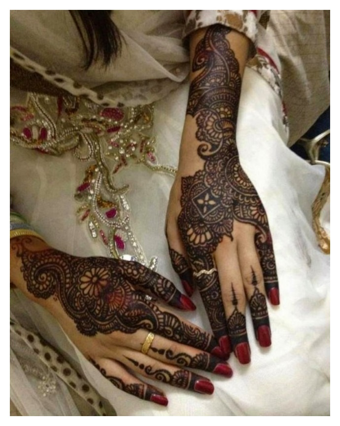 Single full hand MEHNDI DESIGNS for eid