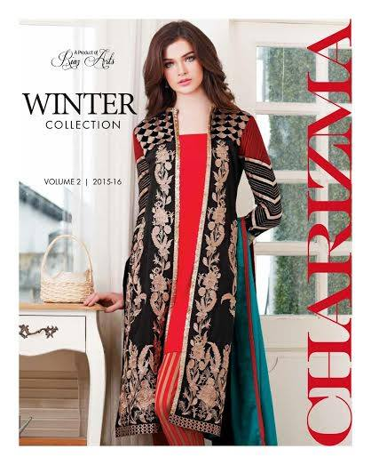 Charizma Vol 2 Fall Winter Embroidered Dresses 2015-2016  (1)