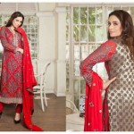 Criss Cross Banarsi Collection 2015 16 Dresses By Tawakkal Fabrics (4)