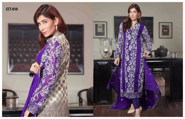Criss Cross Banarsi Collection 2015 16 Dresses By Tawakkal Fabrics (6)