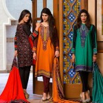House Of Ittehad Linen Designer Fall Winter Dresses 2015 (2)