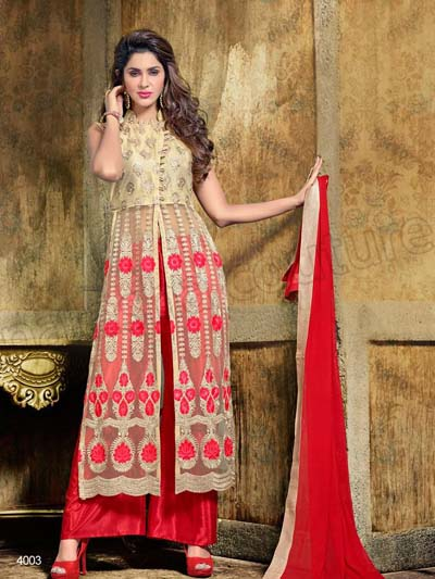 Famous indian anarkali party dresses fashion for women