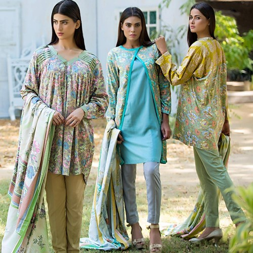 House Of Ittehad Linen Designer Fall Winter Dresses 2015 (3)