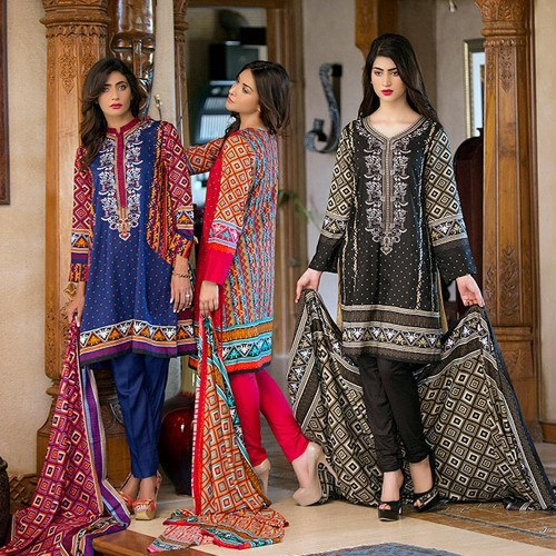 Ittehad Best Linen Fall Winter Dresses 2015 (6)