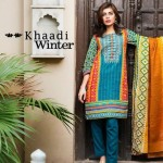 Khaadi Winter Khaddar Woolen Shawl Batik Prints Collection 2015-16 (1)