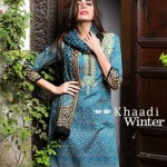 Khaadi Winter Khaddar Woolen Shawl Batik Prints Collection 2015-16 (2)