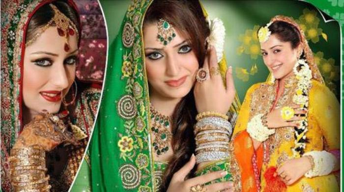 I Mehndi Hairstyles : Pakistani bridal hairstyle dresses for mehndi day newfashionelle