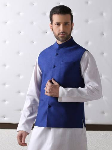Pakistani Waistcoat With Shalwar Kameez For Men
