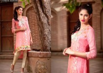 Zahra Ahmad Pakistani Semi Formal Dresses 2015 for Women (3)