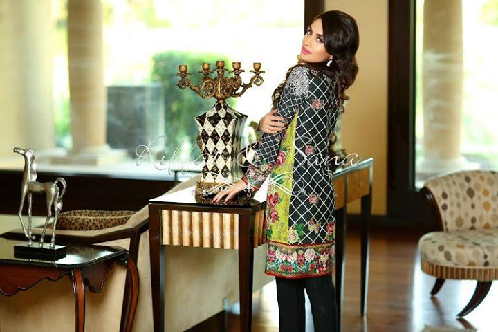 Riffat & Sana Semi-Formal & Winter Silk Karandi 2015-2016 (3)