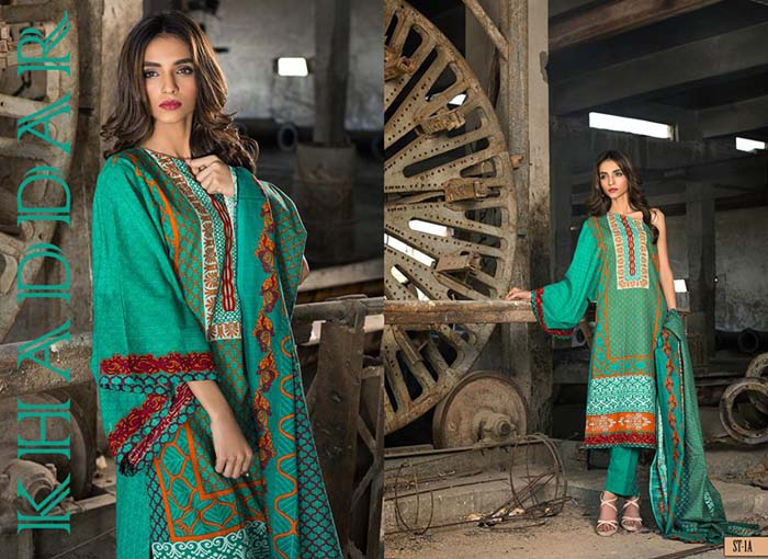 Shariq Winter Khaddar Print 2015-16 for women