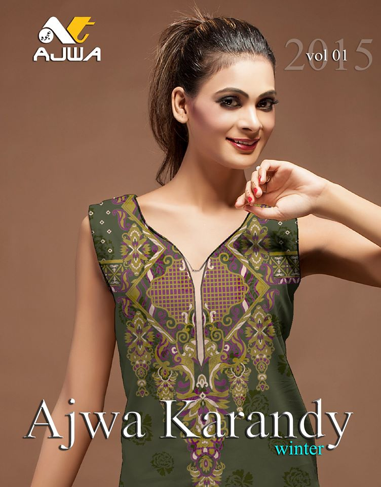 Ajwa Karandy Vol 1 Winter Dresses Collection 2016