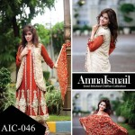 Amna Ismail Embroidered Chiffon Fancy Lawn for winter
