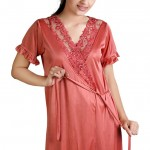 New pink night wear dresses for ladies