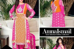 Designer Amna Ismail Chiffon Collection 2016 for girls