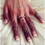 Finger Mehndi Designs on Hand